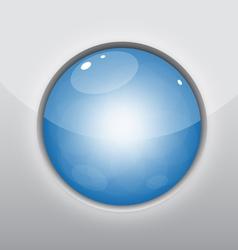 Glossy Blue Circle vector image vector image
