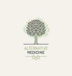 herbal and alternative medicine logo design vector image vector image