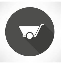 mason trolley icon vector image vector image