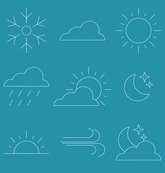 Thin line Icon Weather vector image