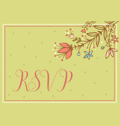 wedding card with flowers and the words vector image