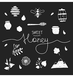 Design elements honey black vector image