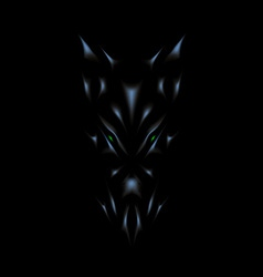 Devil face background vector image