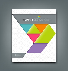 Report design colorful origami paper triangle vector image vector image