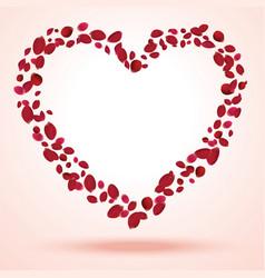 Rose petals heart vector image