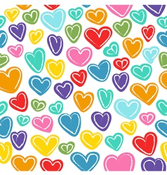 Seamless pattern with many colored hand drawn dood vector image vector image