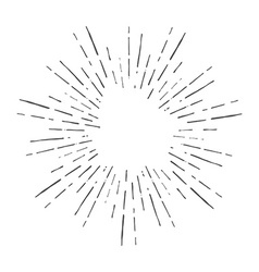 Vintage hand drawn sunburst vector image vector image