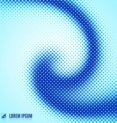 abstract blue background with spiral vortex vector image vector image