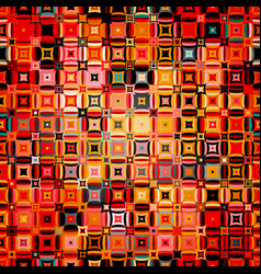 abstract geometric pattern in disco style vector image