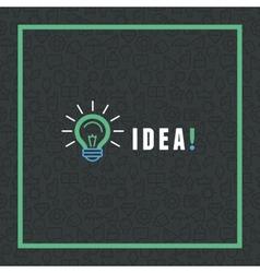 Creative idea concept in flat style vector
