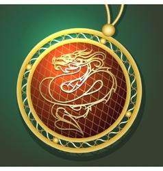Dragon Pendant vector image