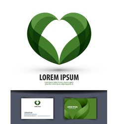 Ecology The leaves are heart-shaped Logo icon vector image vector image