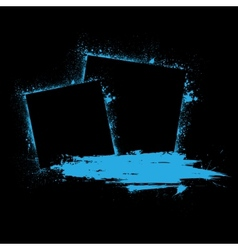 Grunge ink blots blue vector image