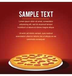 Pepperoni Pizza Background vector image vector image