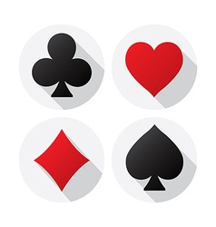 playing Card suits vector image