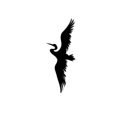 sign silhouette of the heron vector image vector image