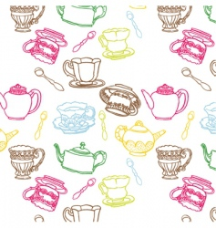 teapot seamless vector image vector image