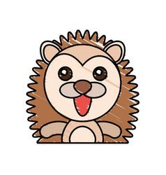 draw porcupine animal comic vector image