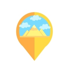 On-line Map Marker With Pyramids Of Egypt vector image vector image