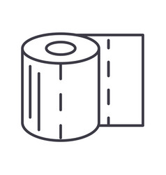 toilet paper line icon sign vector image