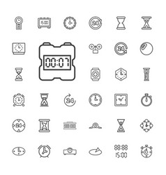 33 hour icons vector