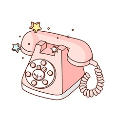 A telephone is placed vector