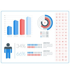 abstract infographic design in flat style with vector image
