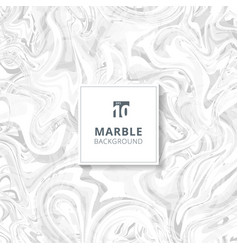 Abstract white and gray watercolor stains marble vector