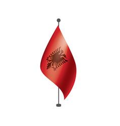 albania flag on a white vector image