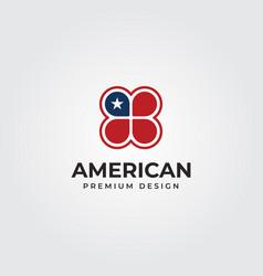 american clover flag creative logo symbol design vector image