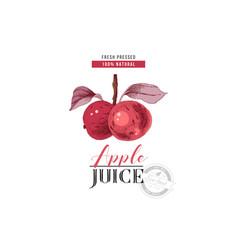 apple juice logo template vector image