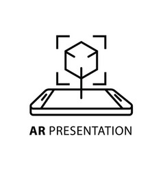 Ar presentation concept icon vector