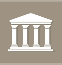 architecture greek building symbol with shadow vector image