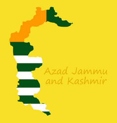 Azad kashmir province of pakistan islamic vector