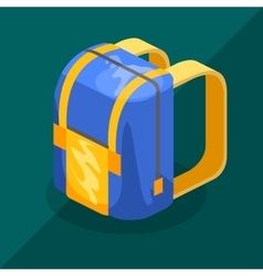 backpack isometric vector image