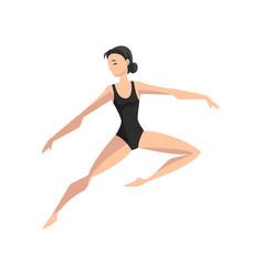 ballet dancer beautifull slim ballerina dancing vector image