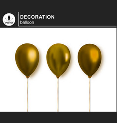 balloon set of decorative festive balloon vector image