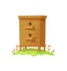Beehive in cartoon style vector