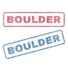 Boulder textile stamps vector