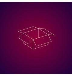 box Flat design style vector image
