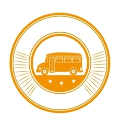 bus school transport icon vector image