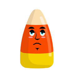 candy corns sad emoji sweet emotion sorrowful vector image