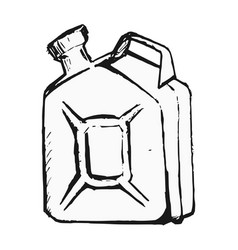 Canister with gasoline vector