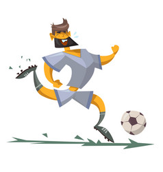 Cartoon character of a soccer player vector