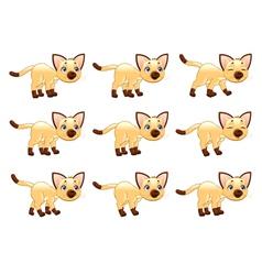 cat walking animation vector image