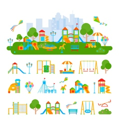 Childrens Playground Constructor Composition vector