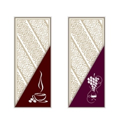 Coffee and wine vector image