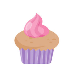 colorful cupcake design element for birthday vector image