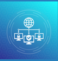 computer network cybersecurity icon vector image