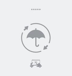 Constant protection - minimal icon vector